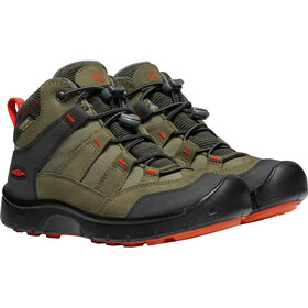Keen Junior Hikeport WP Mid Shoes martini olive/pure